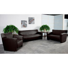 HERCULES Majesty Series Reception Set in Brown LeatherSoft