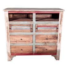 See Details - Multi COL.LOUVERED TV 6 Drawer