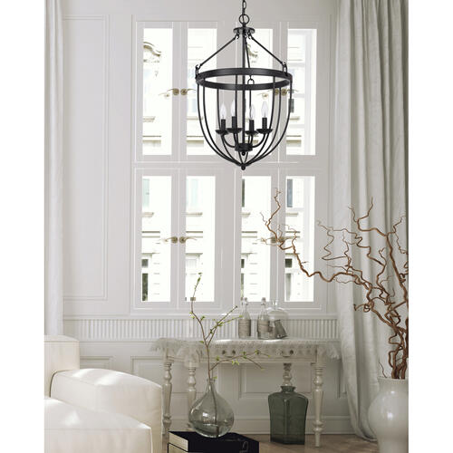 Cal Lighting & Accessories - 60W x 4 Grafton metal chandelier