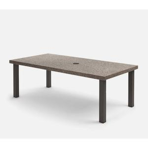 "42"" x 84"" Rectangular Dining Table (with Hole) Ht: 27.75"" Post Aluminum Base (Model # Includes Both Top & Base)"