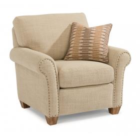 Christine Fabric Chair with Nailhead Trim