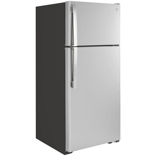 GE Energy Star® 16.6 Cu. Ft. Top-Freezer Refrigerator Stainless Steel - GTE17GSNRSS