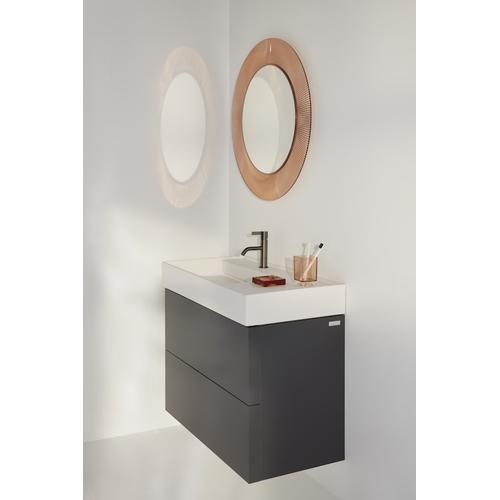 Ochre Brown Vanity Unit with two drawers for washbasin shelf right 810338 (incl. organiser)