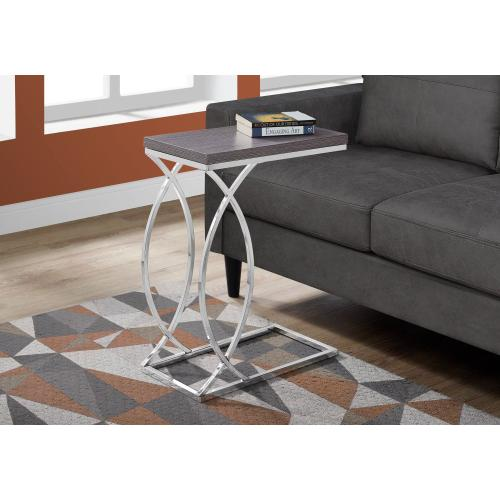 Gallery - ACCENT TABLE - GREY WITH CHROME METAL