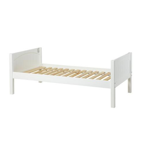 Basic Bed (Low/Low) : Twin : White : Panel