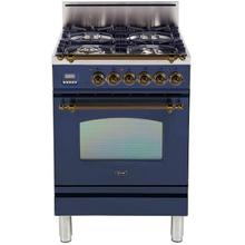 "24"" Inch Blue Natural Gas Freestanding Range"