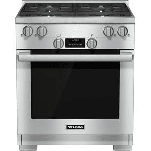 MieleHR 1124 G - 30 inch range All Gas with DirectSelect, Twin convection fans and M Pro dual stacked burners