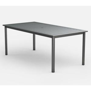 """44"""" x 87"""" Rectangular Balcony Table (with Hole) Ht: 34.5"""" Post Aluminum Base (Model # Includes Both Top & Base)"""
