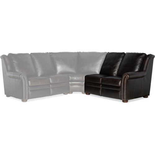 Bradington Young Raven RAF Loveseat Recliner At Arm w/Articulating HR 969-56
