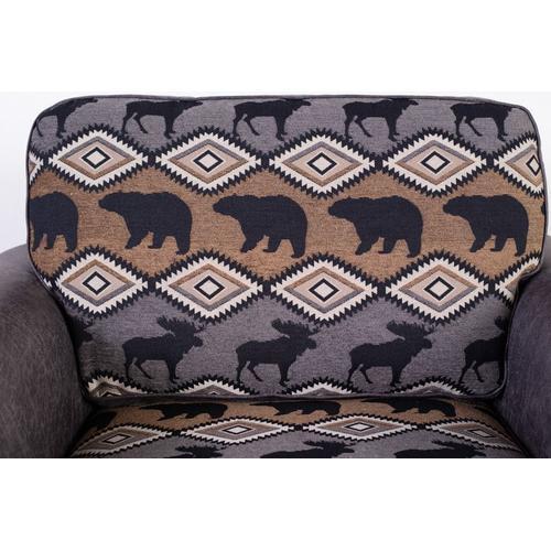 Hunter Gray Sofa, Loveseat, Chair & Recliner, U8022