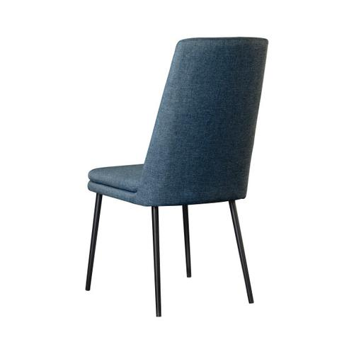 Accentrics Home - Modern Upholstered Dining Chair in Denim (2pc)