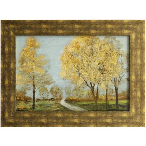 Style Craft - GOLDEN DOWN  46in w. X 34in ht.  Promotional Textured Framed Print  Made in USA