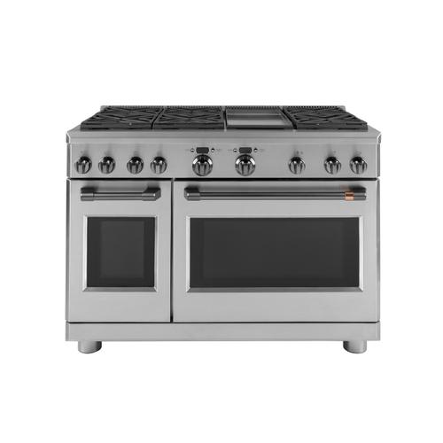 """Gallery - Café™ 48"""" Dual-Fuel Commercial-Style Range with 6 Burners and Griddle (Natural Gas)"""