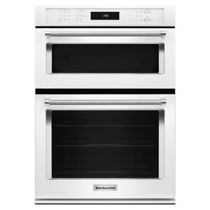 "KitchenAid27"" Combination Wall Oven with Even-Heat™ True Convection (lower oven) - White"