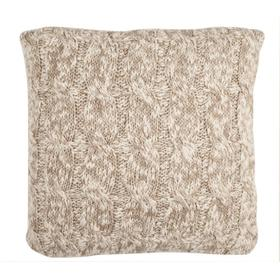 Chunky Knit Pillow - Stone / Natural