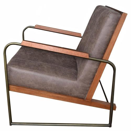Damian Fabric Accent Arm Chair, Devore Brown