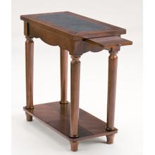 Maple Side Table with Pull Out Shelf