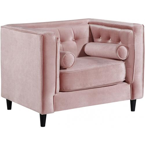 "Taylor Velvet Chair - 40"" W x 33"" D x 32"" H"