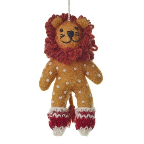 "5"" Orange Endangered Friends Ornaments (Lion Option)"
