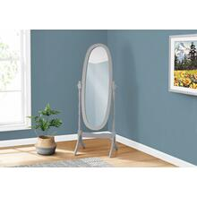 "MIRROR - 59""H / GREY OVAL WOOD FRAME"