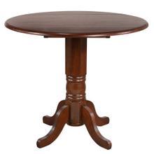 Round Drop Leaf Pub Table - Chestnut