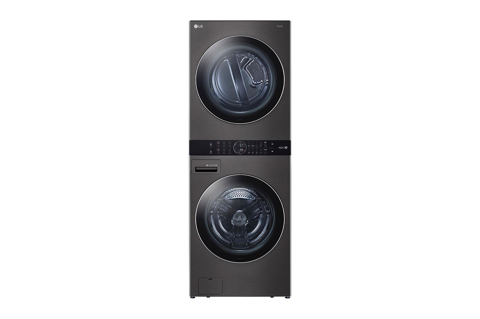 LG AppliancesSingle Unit Front Load Lg Washtower™ With Center Control™ 4.5 Cu. Ft. Washer And 7.4 Cu. Ft. Gas Dryer