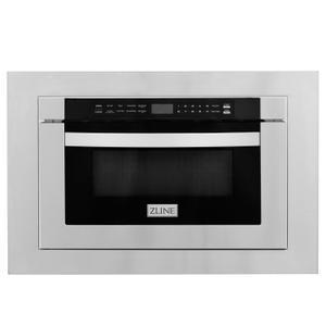 """Zline KitchenZLINE 24"""" 1.2 cu. ft. Stainless Steel Microwave Drawer with 30"""" Trim Kit (MWD-TK-30)"""