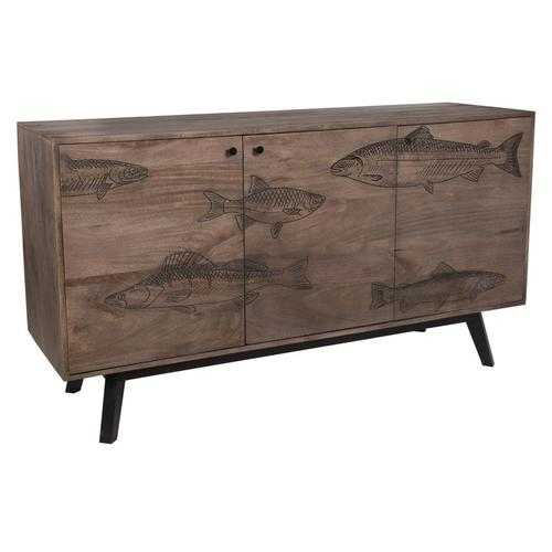 See Details - Swimming with Fish Gray Sideboard, 55469