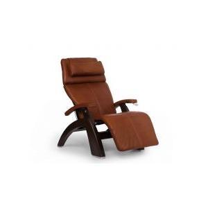 Perfect Chair ® PC-420 Classic Manual Plus - Cognac Premium Leather - Dark Walnut