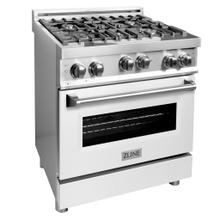 """See Details - ZLINE 30"""" 4.0 cu. ft. Range with Gas Stove and Gas Oven in Stainless Steel with Color Door Options (RG30) [Color: White Matte]"""
