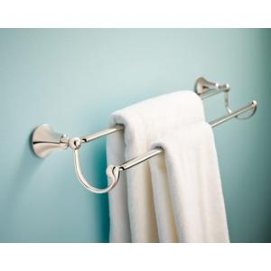 "Wynford chrome 24"" double towel bar"