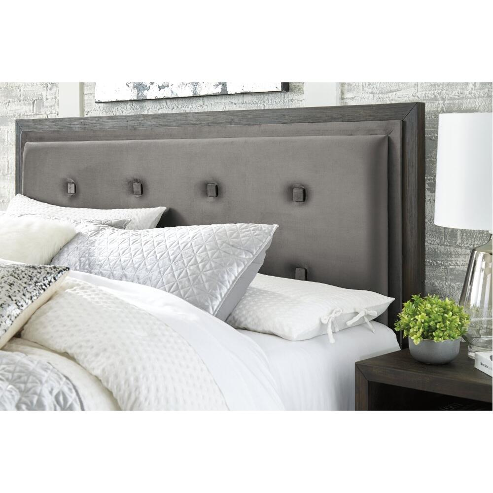 Product Image - Hyndell King Upholstered Panel Bed With Storage