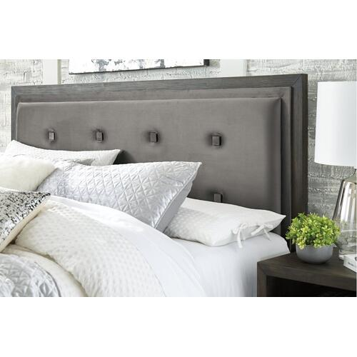 Hyndell King Upholstered Panel Bed With Storage