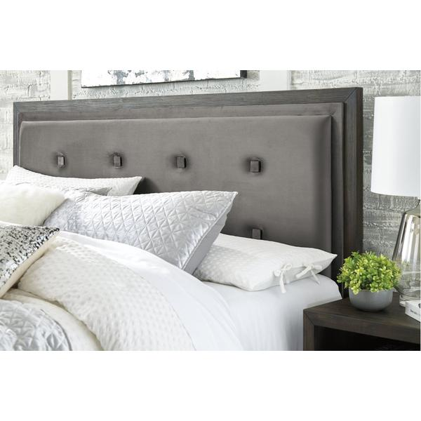 Hyndell Queen Upholstered Panel Bed With Storage