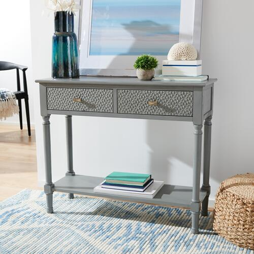 Safavieh - Halton 2 Drawer Console Table - Distressed Grey