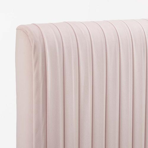 Eloise Channel Tufted Performance Velvet Twin Headboard in Pink