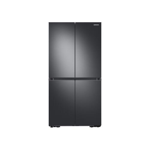 Samsung - 23 cu. ft. Smart Counter Depth 4-Door Flex™ refrigerator with Beverage Center and Dual Ice Maker in Black Stainless Steel