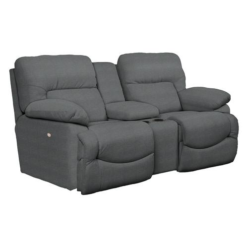 Gallery - Asher Power La-Z-Time® Loveseat with Middle Console