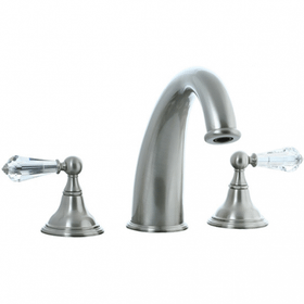 Asbury - 3pc Roman Tub Filler Trim - Polished Nickel