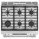 "Cafe Appliances 30"" Smart Slide-In, Front-Control, Dual-Fuel, Double-Oven Range with Convection"