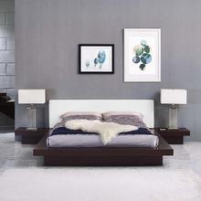 See Details - Freja 3 Piece Queen Vinyl Bedroom Set in Cappuccino White
