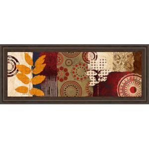 """Fall Leaf Panel Il"" By Michael Marcon Framed Print Wall Art"