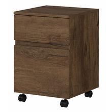 Latitude 2 Drawer Mobile File Cabinet - Rustic Brown