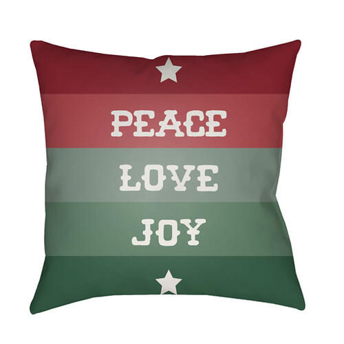 "Peace Love Joy HDY-076 18"" x 18"""