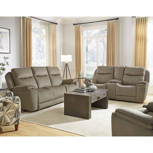 Double Reclining Loveseat with Console & Hidden Cupholders