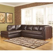 Signature Design by Ashley Fairplay Sectional with Left Side Facing Chaise in Mahogany DuraBlend Leather