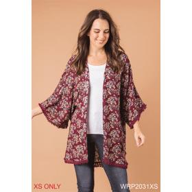 Poppy Fields Kimono Wrap - XS (3 pc. ppk.)
