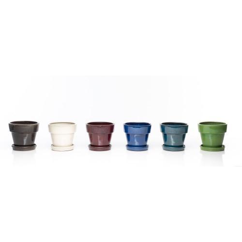 "Group Dynamics 8"" Petits Pots w/att saucer Assortment (6 colors, 2 of each)"