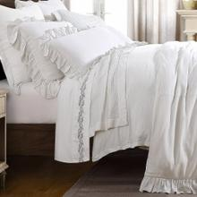 Lily Washed Linen Duvet White - King