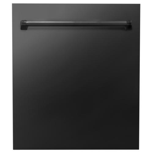 Zline Kitchen and Bath - 24 in. Top Control Dishwasher 120-Volt with Stainless Steel Tub and Traditional Style Handle [Color: Hand Hammered Copper]